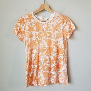 J Crew Sun Bleached Orange Short Sleeve Tee Small